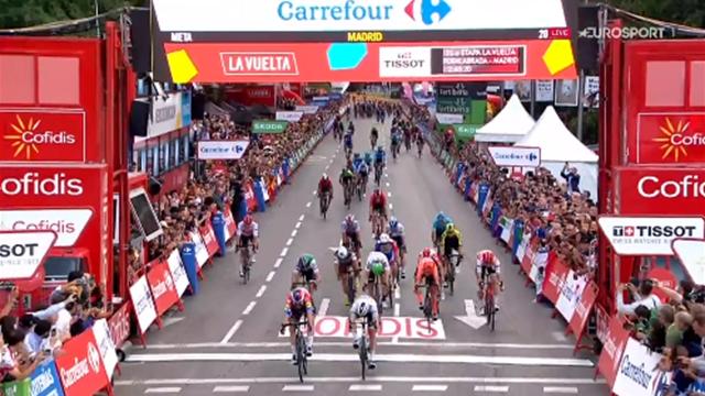 De laatste kilometer van de Vuelta - Winst Jakobsen in Madrid