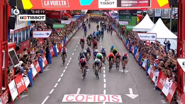 Jakobsen wins thrilling sprint finish in Madrid to end Vuelta