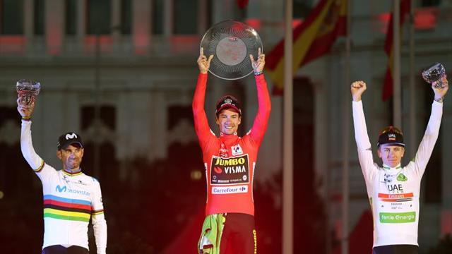 """Roglic da el gran salto en Madrid, Valverde """"orgulloso"""" del segundo puesto"""