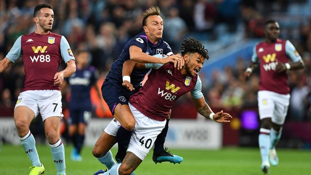 Ten-man West Ham held to stalemate at Villa