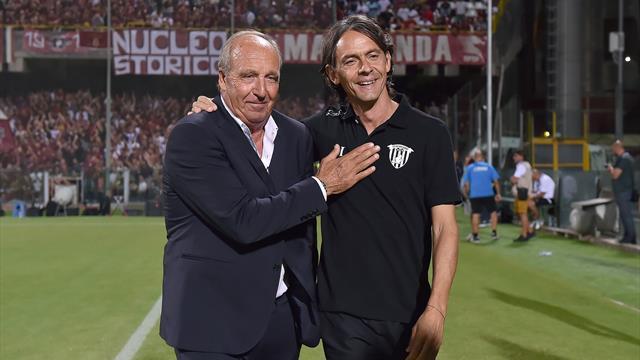 Il Benevento di Inzaghi batte la Salernitana di Ventura: a Salerno è 0-2