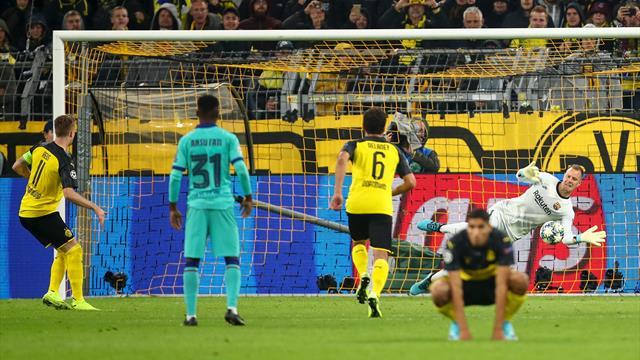 Ter Stegen heroics deny Reus and Dortmund as Barcelona battle to draw