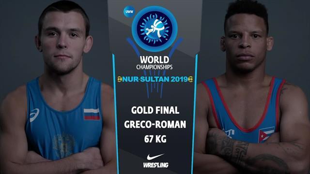 Mondiali Lotta, il cubano Borrero Molina batte il russo Surkov e vince l'oro nel 67 kg