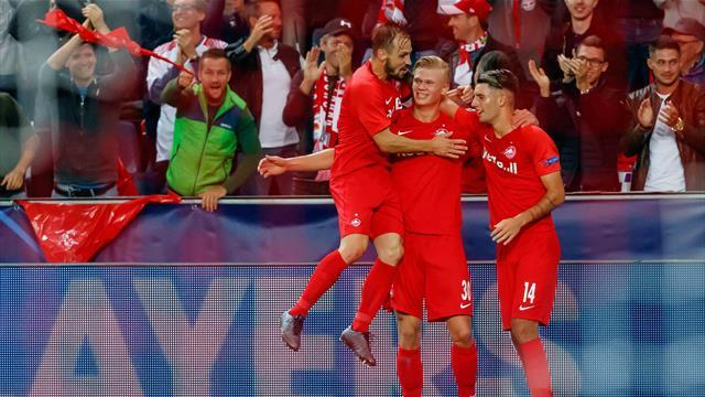 Haaland stars with hat-trick for Salzburg, Barca held by Dortmund