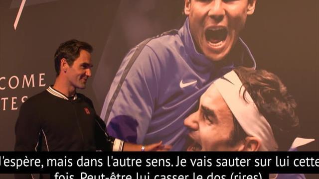 La visite guidée de Federer... qui en profite pour chambrer Nadal