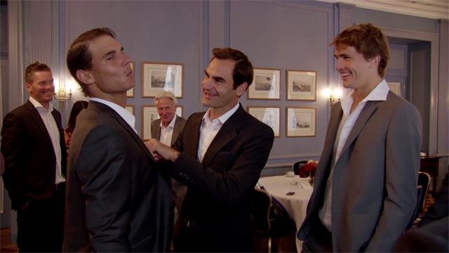 Federer helps Nadal to suit up for the Laver Cup launch