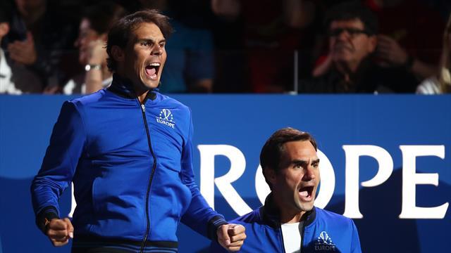 Федерер – об оранжевом корте на выставочном матче: «Пусть Рафа думает, что это грунт»