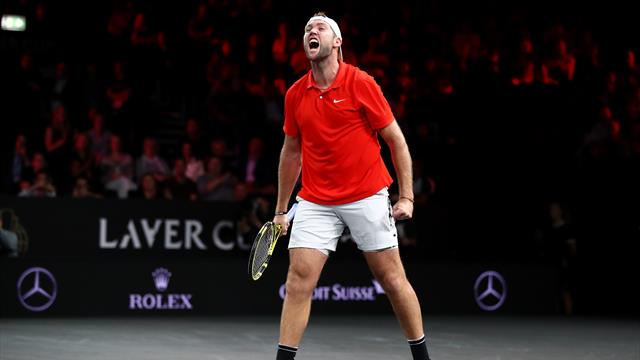 Sock shocks Fognini to give World first Laver Cup win