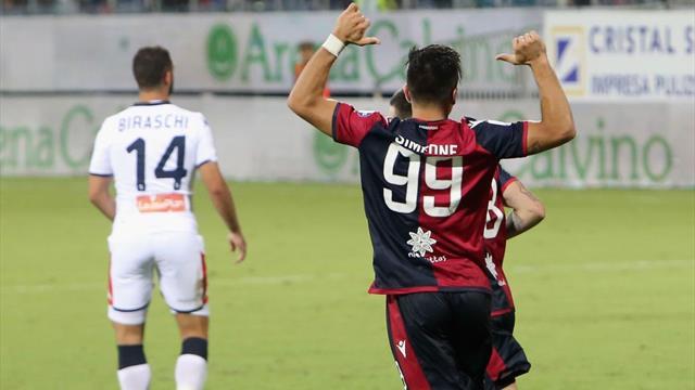 Il Cagliari si ripete dopo il Parma: 3-1 al Genoa nel segno di Simeone