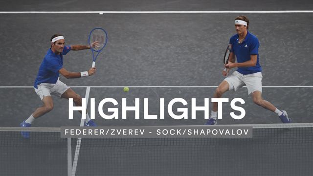 Volley-Spektakel der Extraklasse: Zverev und Federer begeistern am Netz