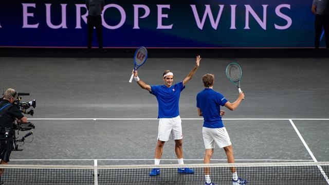 Laver Cup : L'Europe fait le break grâce à son double Federer-Zverev