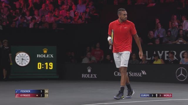 Kyrgios, che scambio con Federer! L'austriano fulmina Roger con un super lungolinea