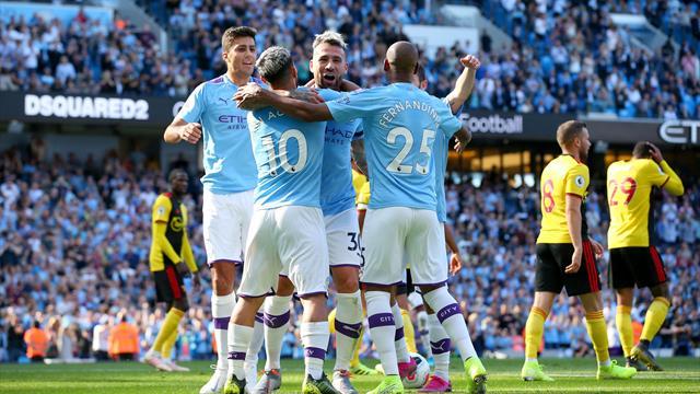 Manchester City historiske med fem mål på 17 minutter