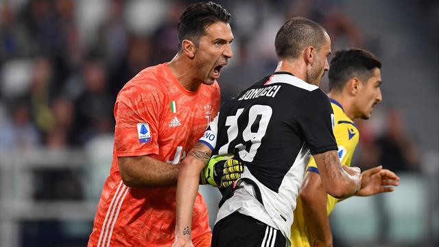 Ramsey-Ronaldo e la Juventus rimonta il Verona: 2-1, ma il protagonista è Buffon