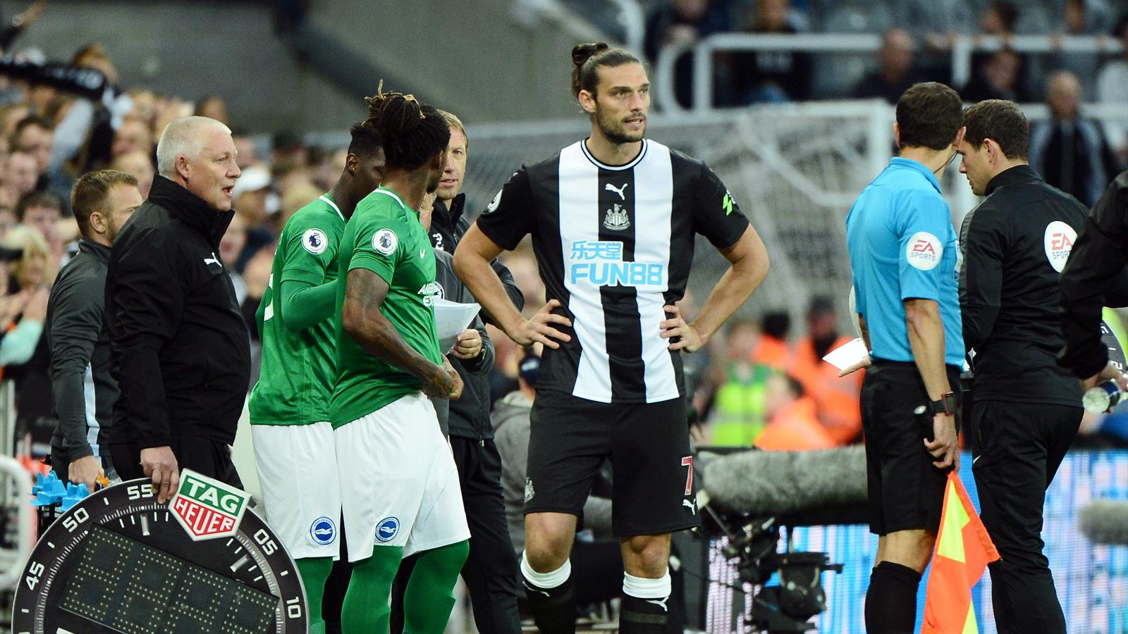 Andy Carroll returns for Newcastle in Brighton draw ...