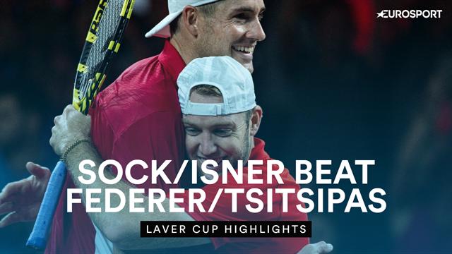 Highlights - Sock/Isner down Federer/Tsitsipas to give Team World lead