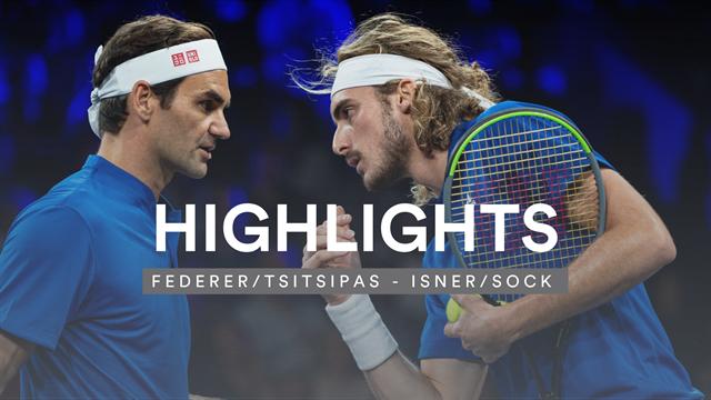 Netzduelle bis zum Umfallen: Federer und Tsitsipas verlieren starken Kampf im Doppel