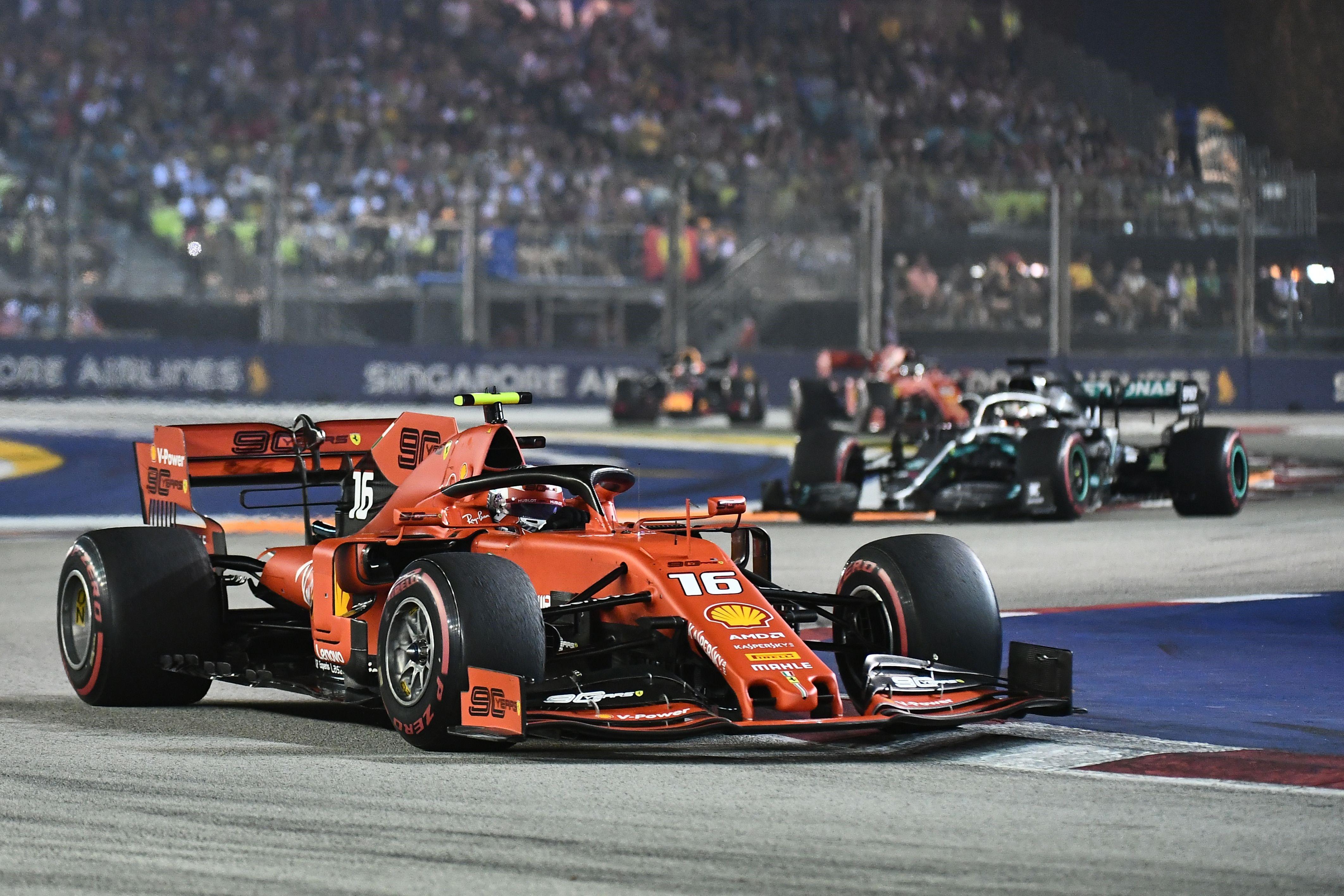 Charles Leclerc (Ferrari) lors du Grand Prix de Singapour 2019