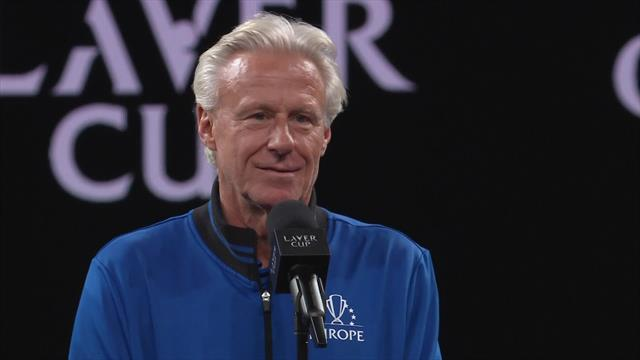 Bjorn Borg struggles to contain his excitement after winning another Laver Cup title