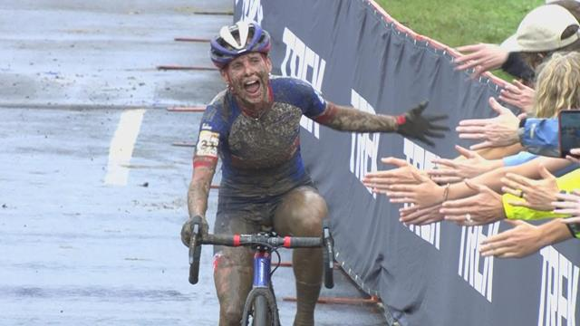 Katerina Nash takes gold in women's elite Cyclo-Cross World Cup in Waterloo