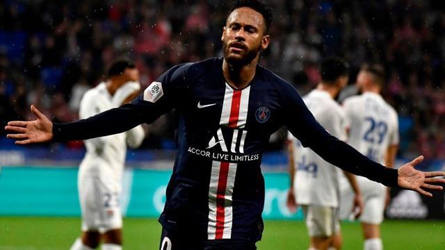 Neymar a înscris golul victoriei cu Olympique Lyon și le-a răspuns contestatarilor