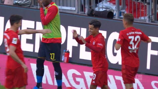 5e j. - Coutinho inscrit son premier but sous les couleurs bavaroises