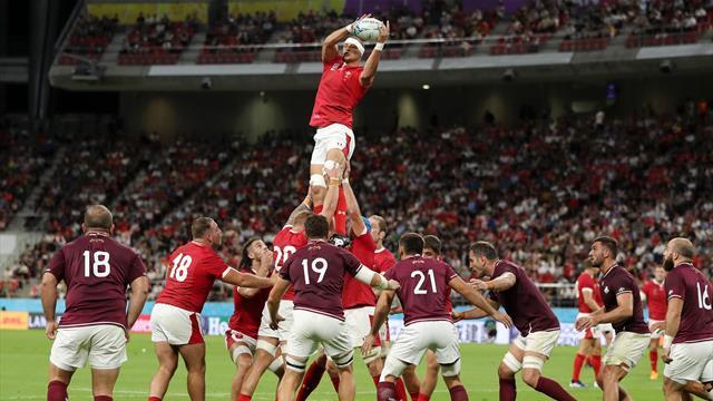 Galles-Georgia 43-14: i campioni del 6 Nazioni dominano senza problemi