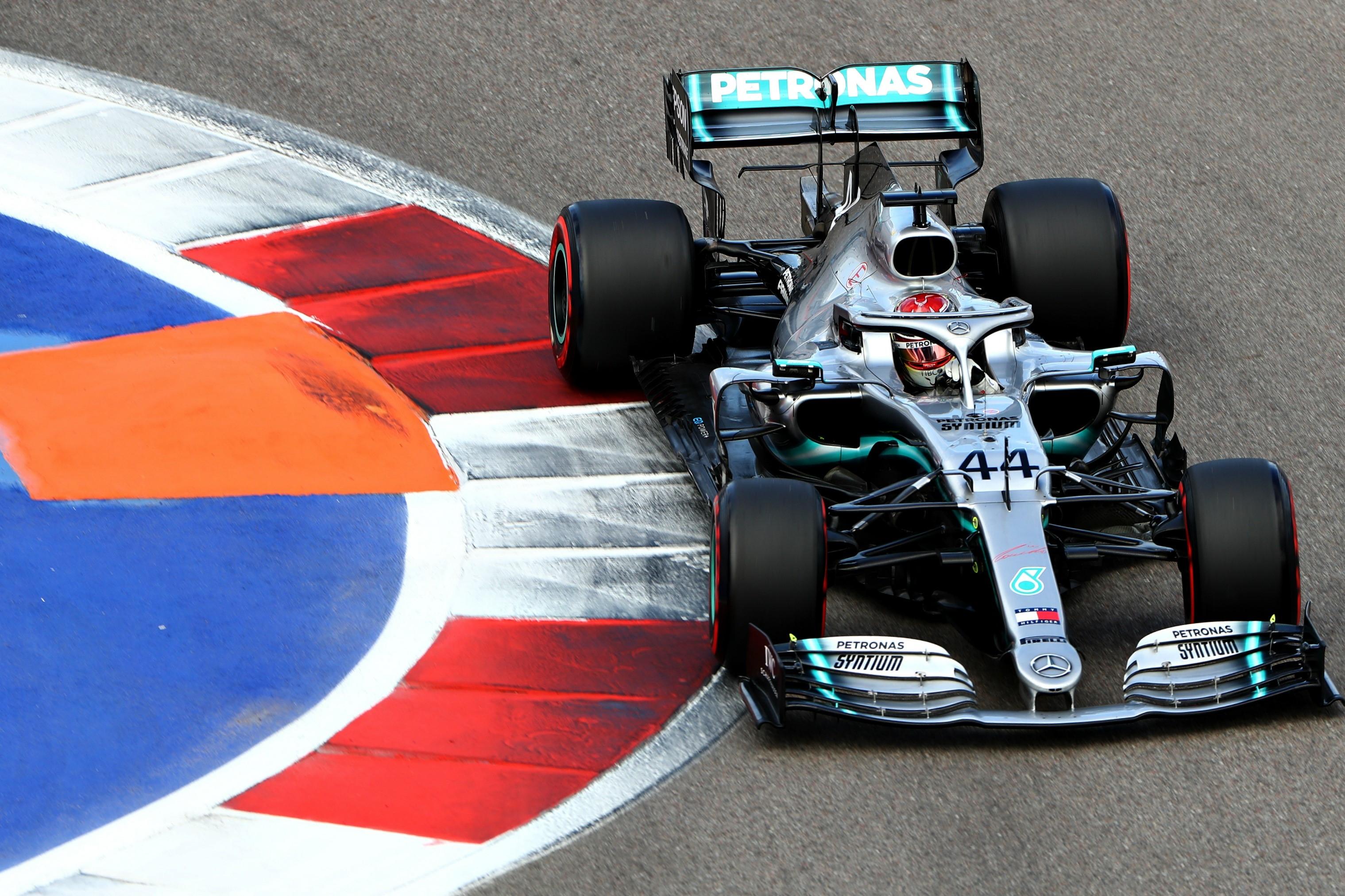 Lewis Hamilton (Mercedes) au Grand Prix de Russie 2019