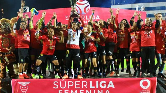 2-0 (4-1). Deportivo Cuenca campeón de la primera Superliga femenina de fútbol en Ecuador