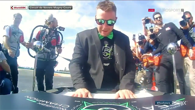 Rea celebrates his fifth title