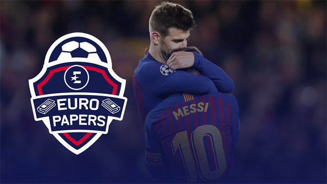 Euro Papers: Pique exposes deep fracture that could see Messi leave Barcelona
