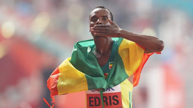 Muktar Edris wins 5000m as Jakob Ingebrigtsen collapses