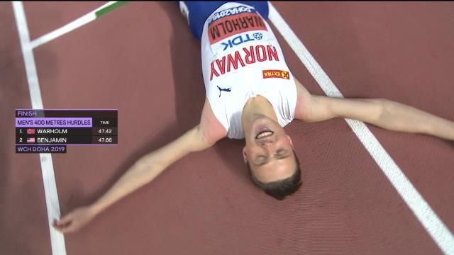 Mondiaux 2019 - Warholm conserve son titre sur 400 m haies