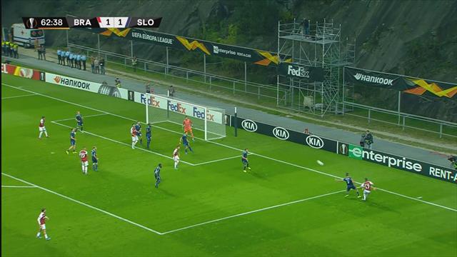 Höjdpunkter: : Braga v Slovan Bratislava