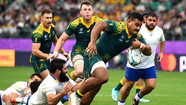 Australia romp to victory over Uruguay to go top of Pool D