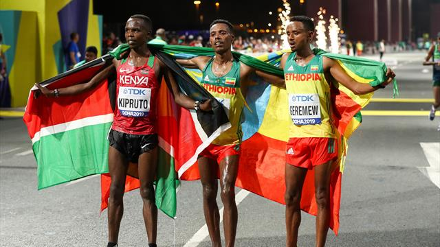 Lelisa Desisa vince la Maratona, sprint vincente su Geremew