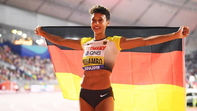 Malaika Mihambo jumps PB to win long jump title