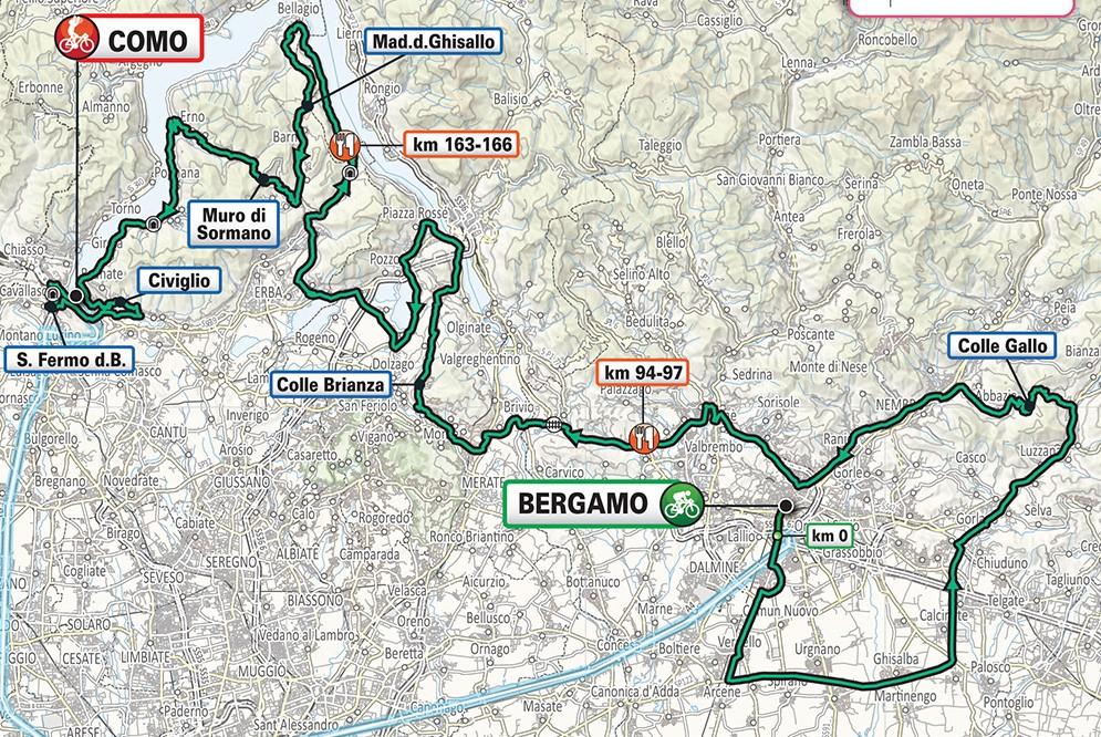 Il Lombardia 2019 map