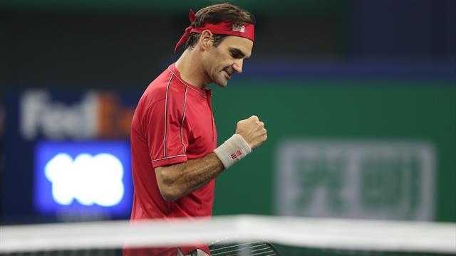 Masters de Shanghái, Albert Ramos-Roger Federer: Precisión suiza al servicio