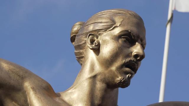 Topless Zlatan Ibrahimovic statue unveiled in Malmo