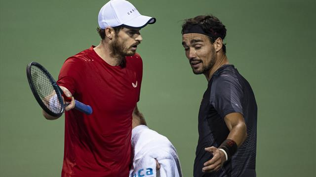 Murray and Fognini's furious row 'continued in locker room' - report