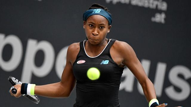 Gauff closes in on first WTA title after beating top seed Bertens in Austria