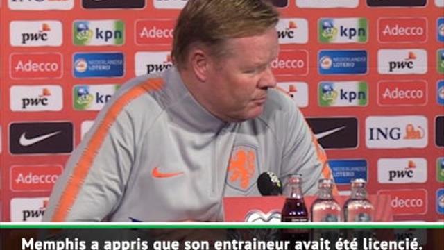"""Pays-Bas - Koeman : """"La situation à Lyon n'aura pas d'impact négatif sur Depay"""""""