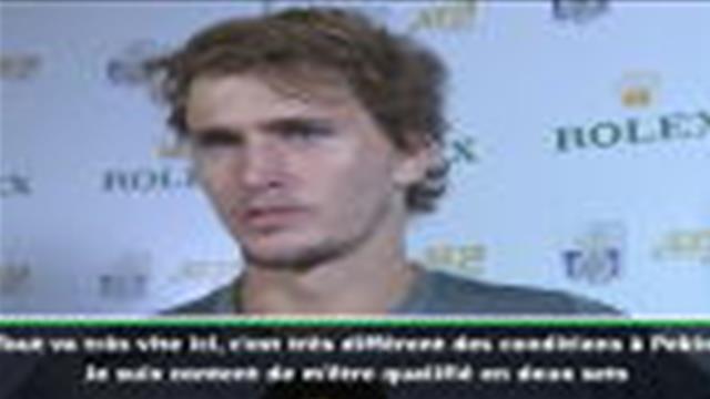 """Shanghai - Zverev : """"Beaucoup de positif de cette victoire contre Chardy"""""""