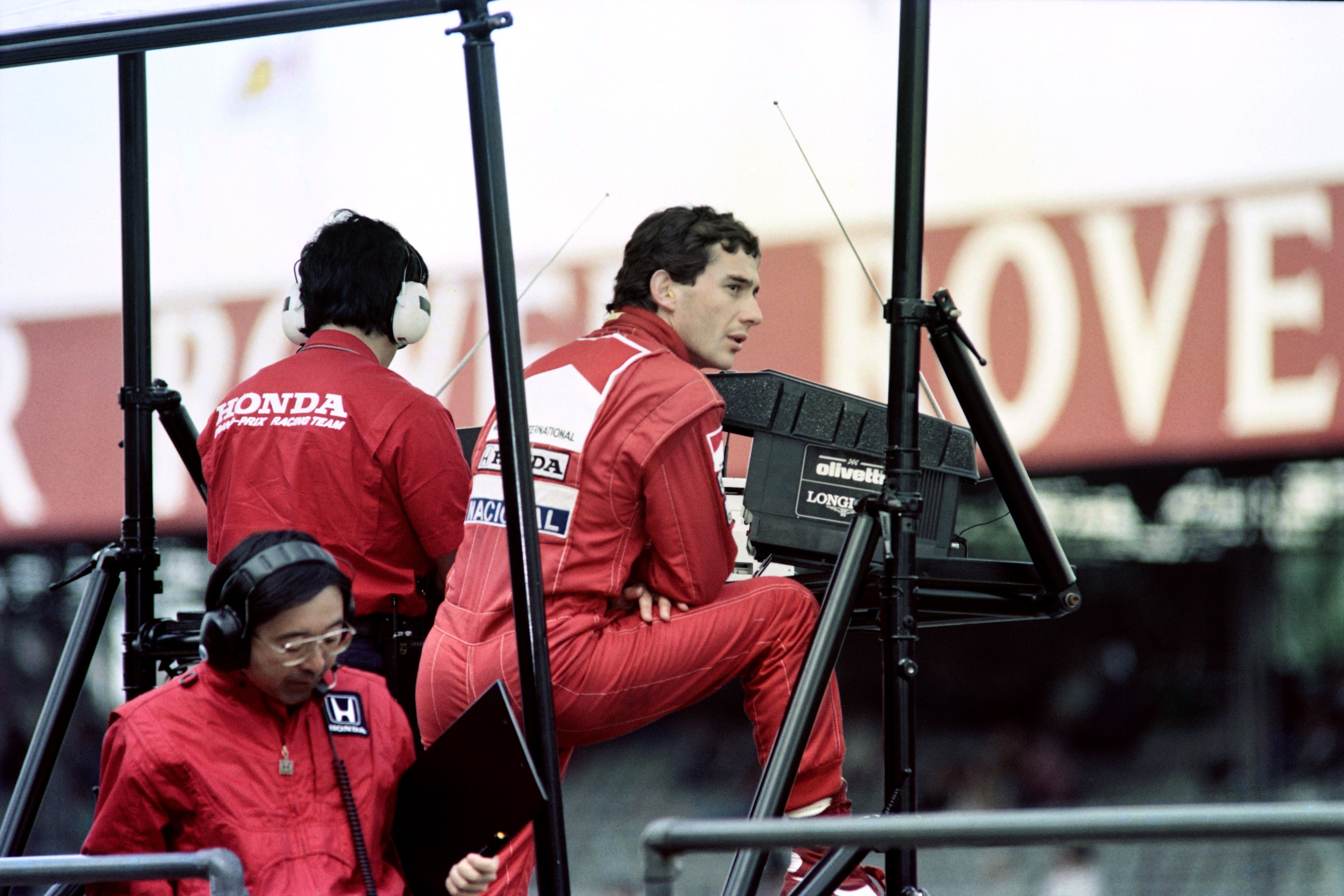 Ayrton Senna (McLaren) au Grand Prix de Grande Bretagne 1989