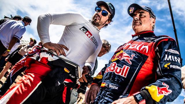 El vacile de Alonso a Sainz tras ganar el Dakar
