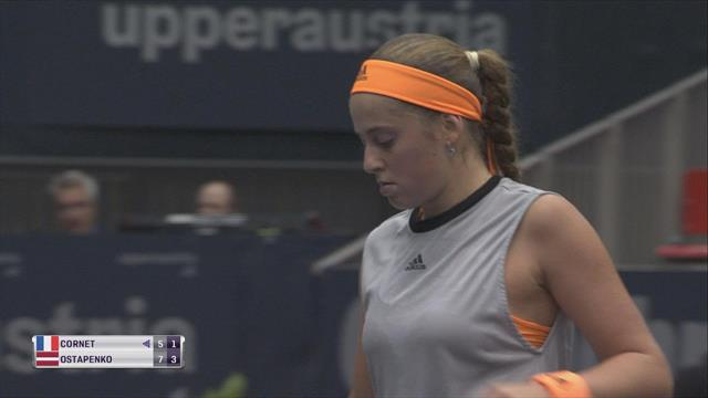 Highlights: Ostapenko marches on after Cornet retires in second set