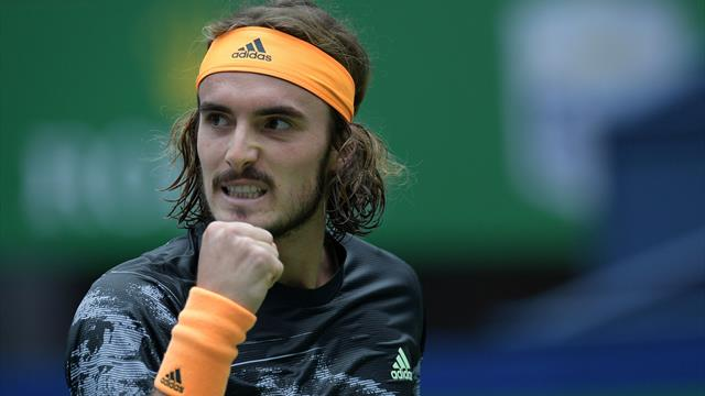 Tsitsipas reaches Tour Finals after beating Djokovic in Shanghai