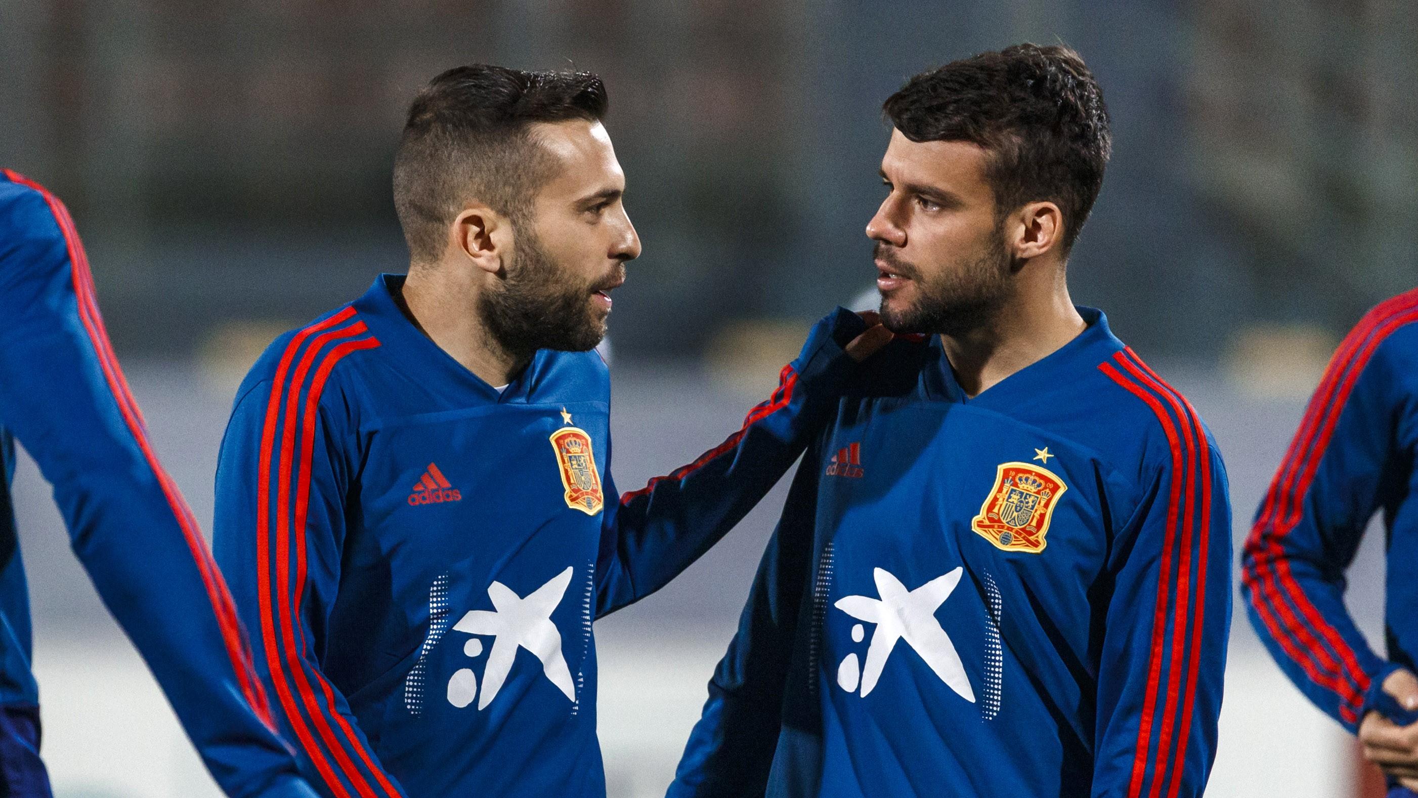 Jordi Alba et Juan Bernat