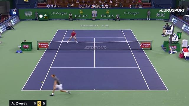 Восхитительный обводящий Зверева, которым он поставил Федерера в безвыходное положение